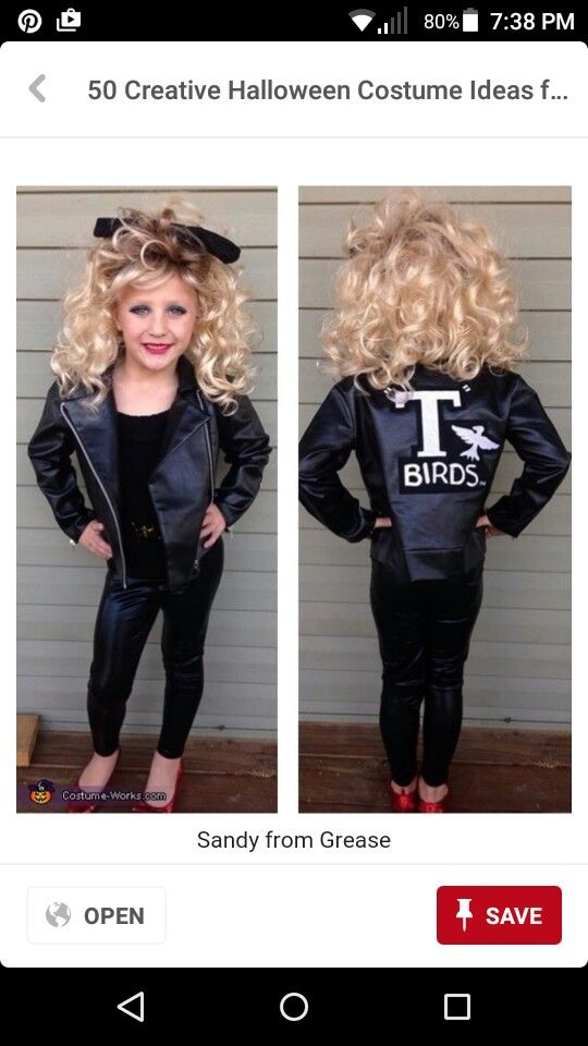As much as I love Grease if I ever have a little girl she will have to be sandy or a pink lady for Halloween