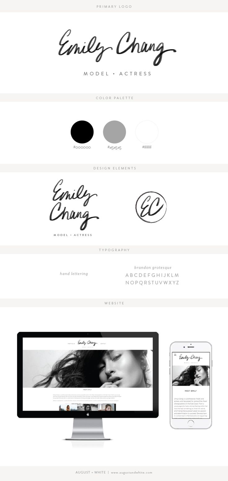 emily chang | Branding, Website and hand lettered logo design by August + White