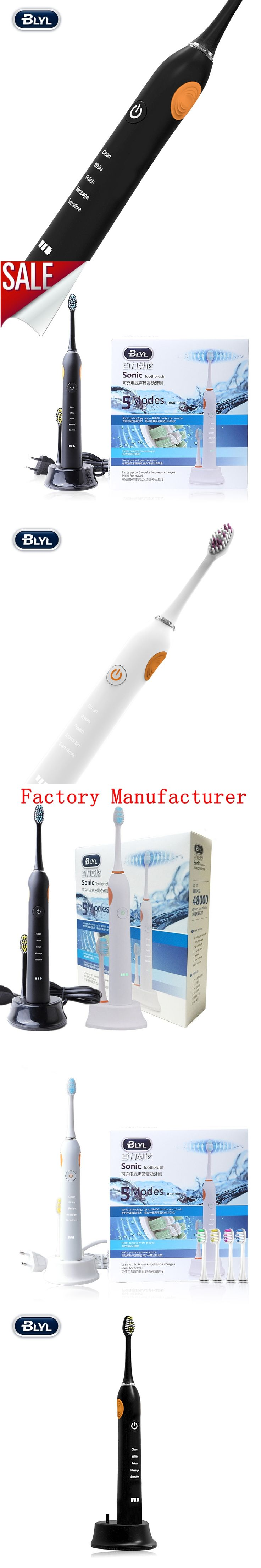 Best Quality 5 Modes Multifunction Sonic Electric Toothbrush Rechargeable Replaceable Brush Head With Color Box Fast Delivery