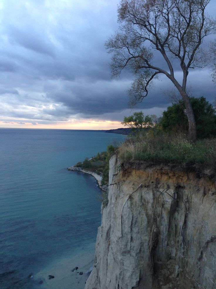 Climbed down these bluffs when I was a teenager ….. what WAS I thinking ??!!! This is in Scarborough, Ontario, Canada