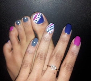 #tribal #prints #nails