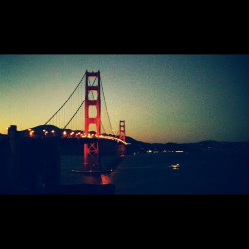 Happy I got such an awesome pic of the golden gate bridge in San Francisco♥