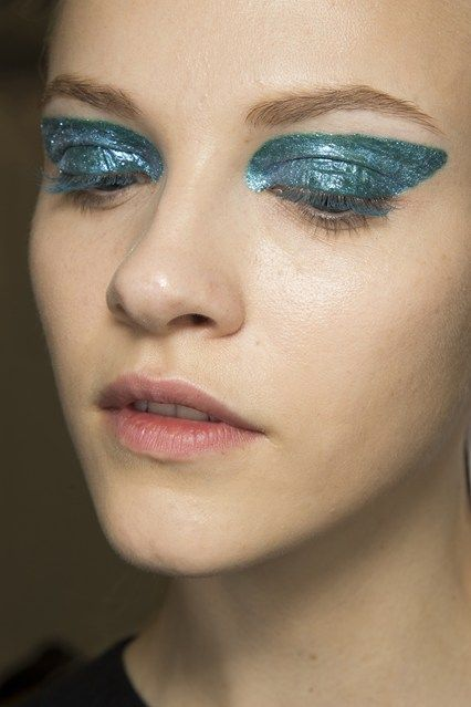 Backstage Beauty: Autumn/Winter 2014 - Christian Dior/ Lashes were finished in the same colour as the lids, whilst the rest of the face was natural-looking.