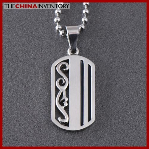 STAINLESS STEEL DOG TAG PENDANT NECKLACE P0326