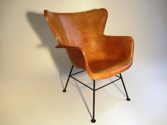 Luther Conover Fiberglass Wing Back Chair | Furniture