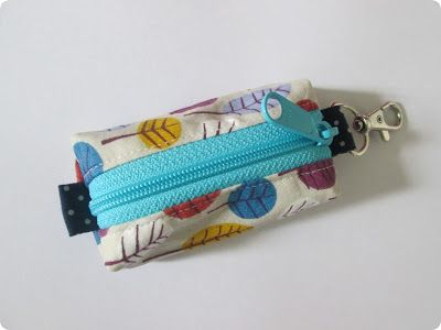 Zippered Keyring Pouch tutorial - Stitch by Fay