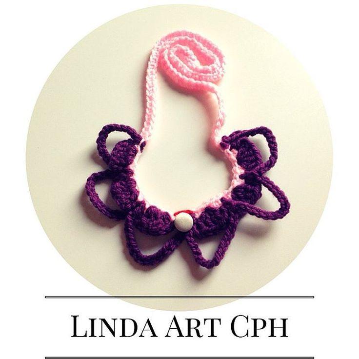 #button #crochet #necklace