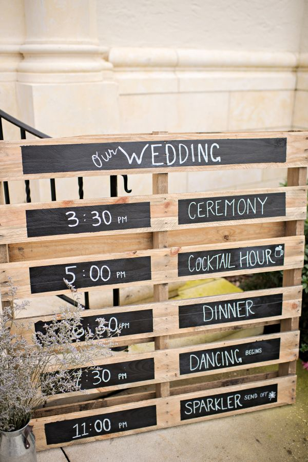 Rustic wooden wedding sign: http://www.stylemepretty.com/florida-weddings/winter-park-fl/2017/03/08/soccer-star-dax-mccarty-weds-college-sweetheart/ Photography: Kristen Weaver - http://www.kristenweaver.com/