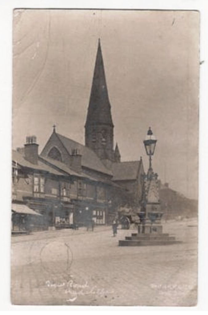 Radcliffe New Road and St. John's Church Lancashire 1904