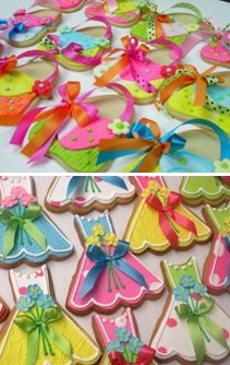 Fun purse and dress cookies (Flower Box Cookies).