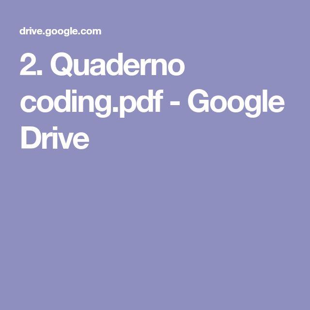 2. Quaderno coding.pdf - Google Drive