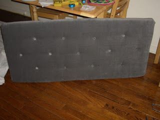 BYOV: bring your own vegetables: How To: Make a Tufted Upholstered Headboard