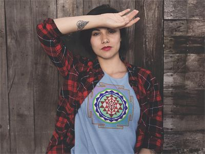 mandala t shirt on woman