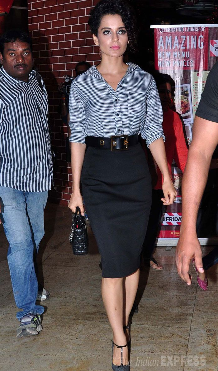 Kangana Ranaut makes an entrance in style as she arrives at the launch of a book. #Fashion #Style #Bollywood #Beauty