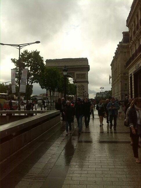 Day four: L'Arc de Triomphe... rainy but ours... beautiful!!! #ParisByDay