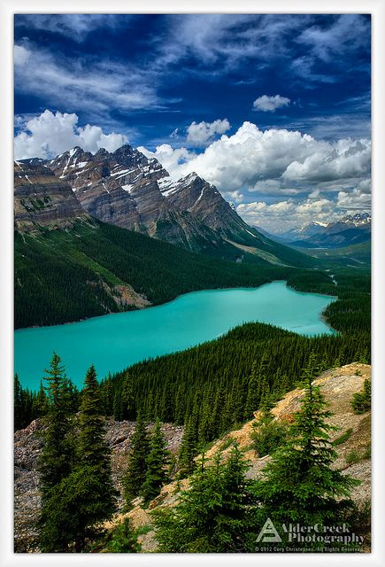 Peyto Lake, Banff National Park, Alberta, Canada. Worth the climb to take in the breath taking view