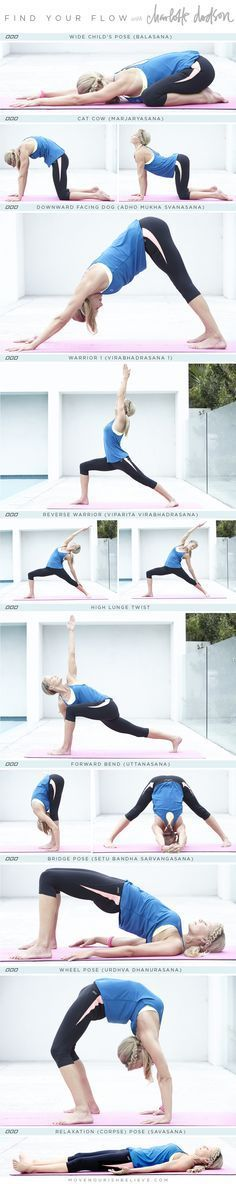 Yoga flow by Charlotte Dodson. All poses are beginner friendly and can even be modified.