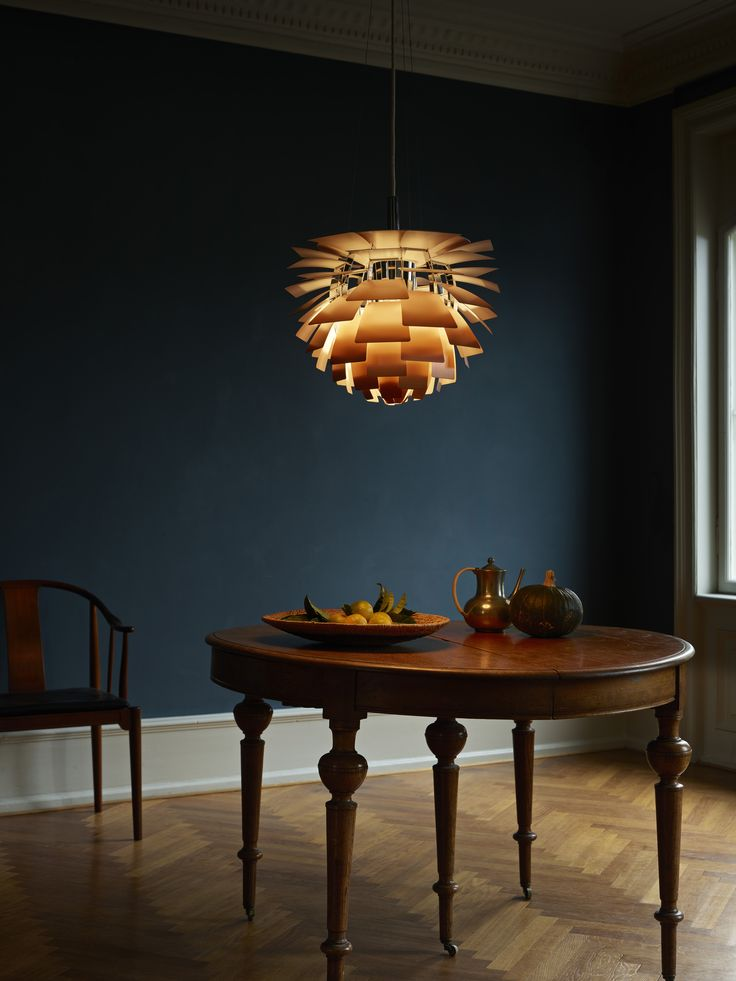 The PH Artichoke Pendant Light was designed in 1958 by Poul Henningsen for the Langelinie Pavillonen restaurant in Copenhagen, where it still hangs today.
