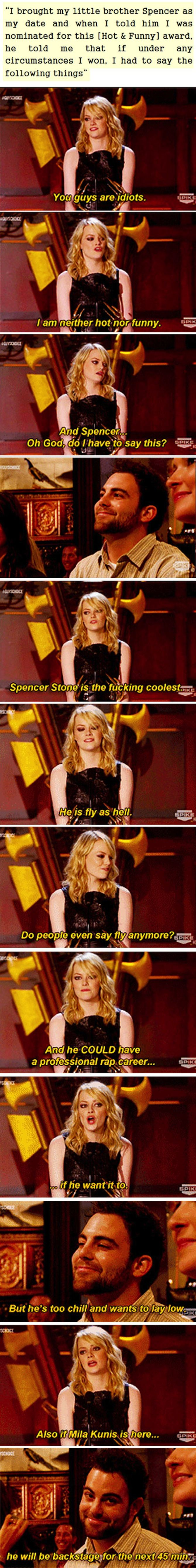 Why Emma Stone is the coolest sister ever.