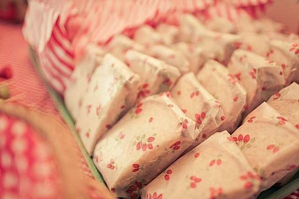Wrap sandwiches is cute paper! Kara's Party Ideas - THE place for ALL things PARTY KarasPartyIdeas.com #foodpartyideas