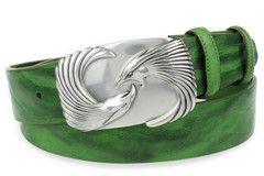 Mint green silver eagle belt