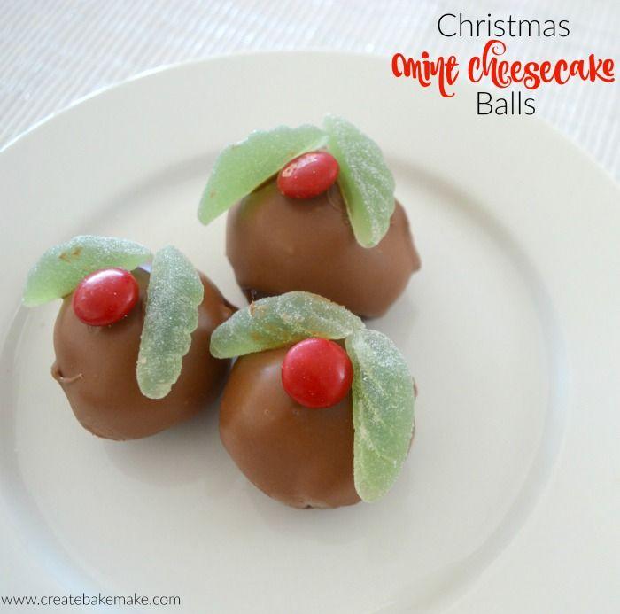 Christmas Mint Cheesecake Balls