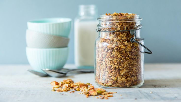 Top off your fresh fruit, smoothie bowl, coconut ice cream with high-protein granola, or just add almond milk to your homemade granola and enjoy!