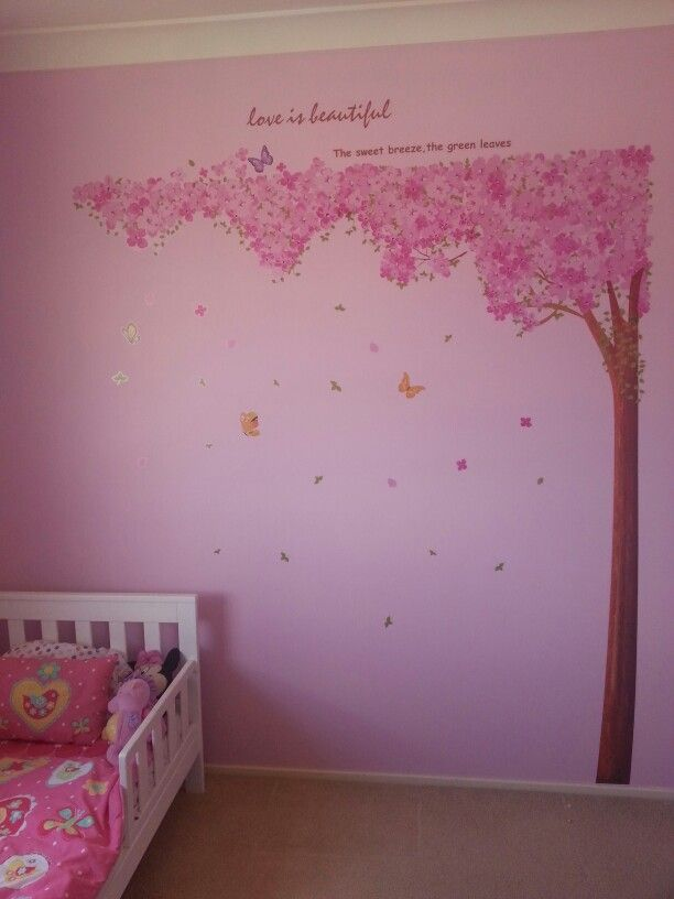 Girls bedroom feature wall my ideas pinterest for Bedroom feature wall designs