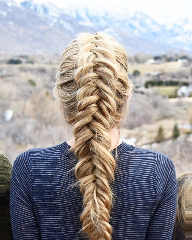 Dutch fishtail braid❤️