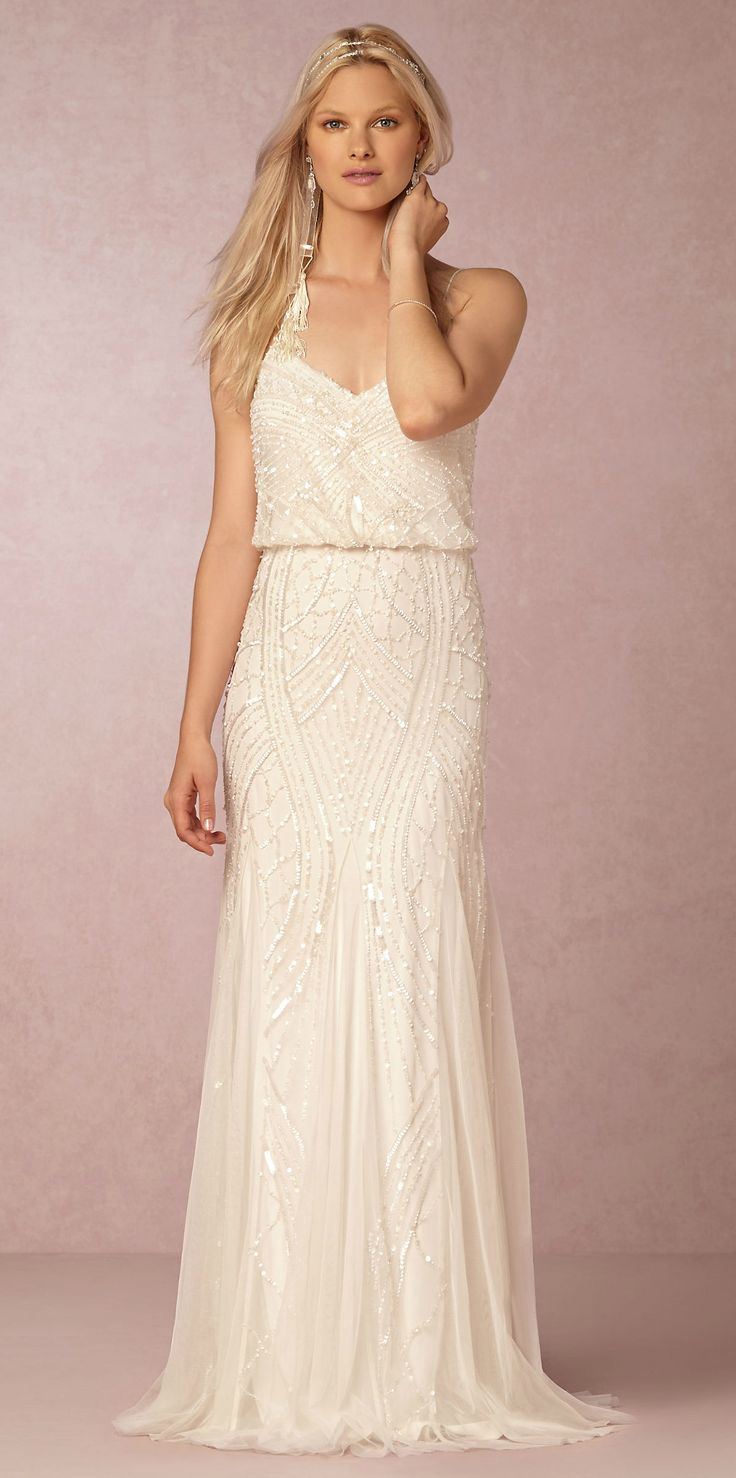 Beaded wedding dress | Grazia Dress from @BHLDN