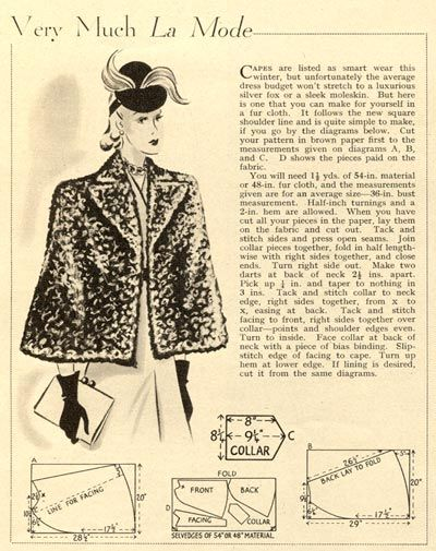 The 75+ best Sewing patterns - Mantelle & Cappe images on Pinterest ...