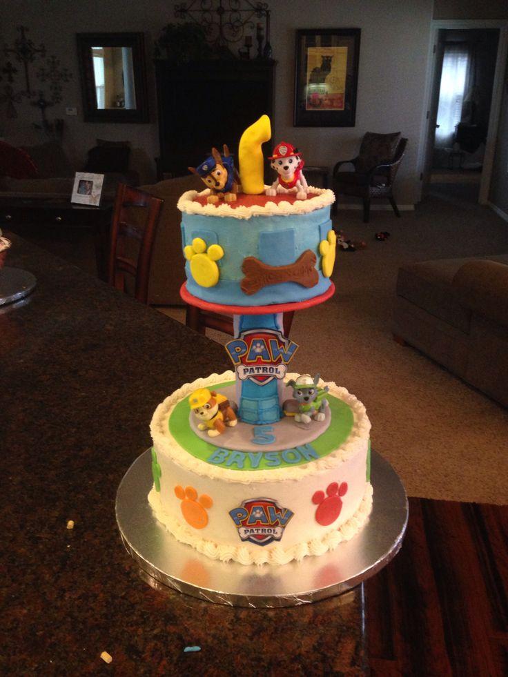 Paw patrol cake tower   Paw patrol birthday cake