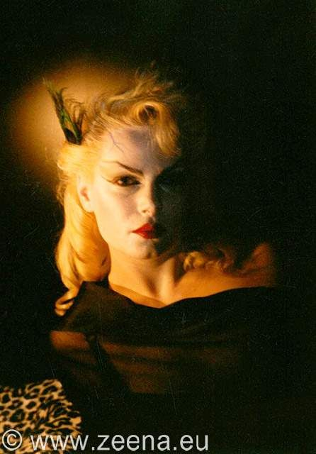 Zeena Schreck (née LaVey), during her time as a high-priestess and satanic witch.
