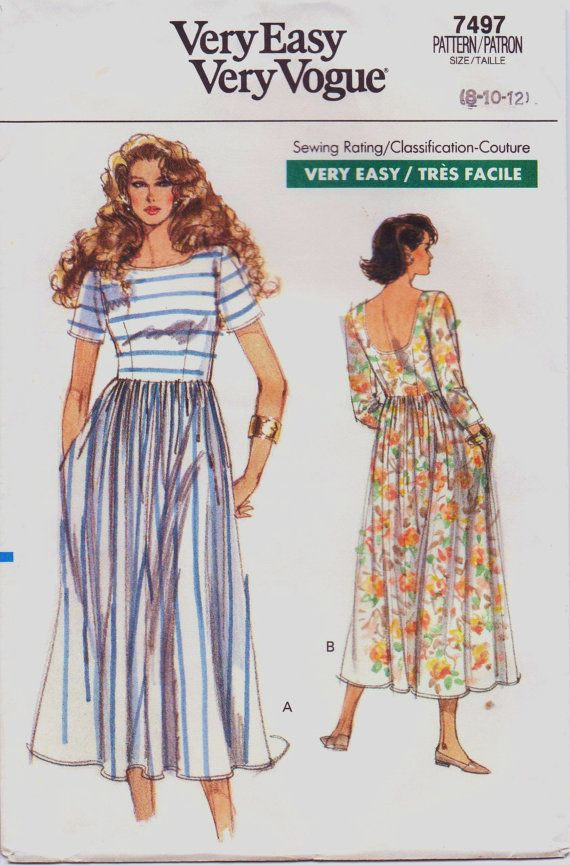 Vintage 80s Very Easy Very Vogue Pattern 7497 by CloesCloset, $9.00