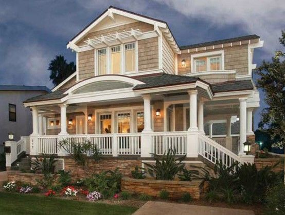 147 best images about garrison colonial exterior on for Beach house designs with wrap around porch