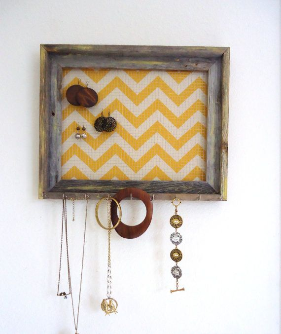 Jewelry Organizer Jewelry Holder Chevron Frame by TheHopeStack