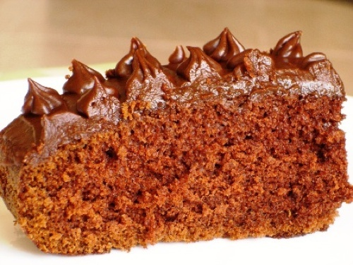 Family Chocolate Cake with Fudge Frosting