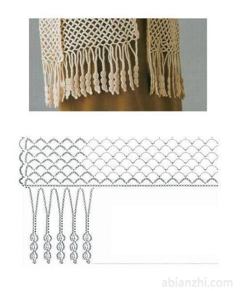 Patrones para Crochet: 10 Patrones Pañuelos Cadenetas