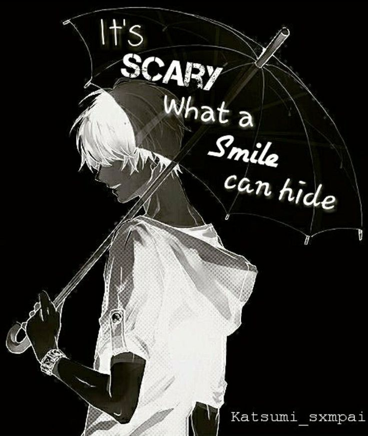 It's scary what a smile can hide #anime #quotes