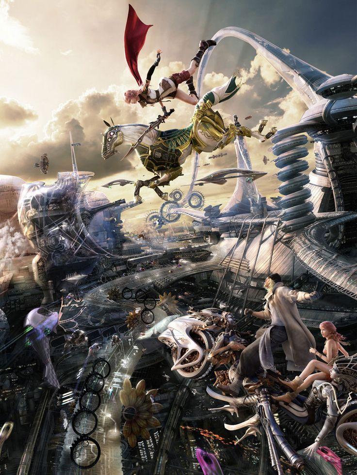Lightning & Odin Promo Poster - Final Fantasy XIII