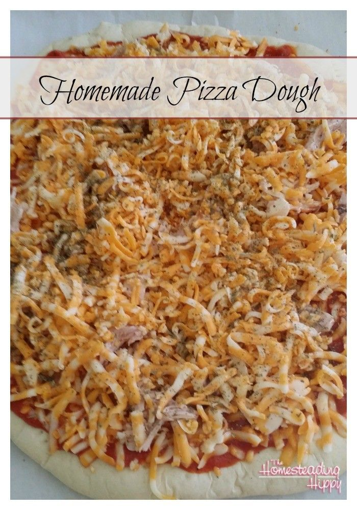 Homemade pizza in less time than it takes to get it delivered!  Yes, it's possible! And so much tastier than store bought! The Homesteading Hippy  #diy #jerf #eatclean #foodie #foodlovers #frenchmanapproved#healthylifestyle#spices #foodporn#fooddiary #foodblogger