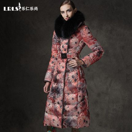 print Women's down coat slim thickening X-long large $387.60   => Save up to 60% and Free Shipping => Order Now! #fashion #woman #shop #diy  http://www.yiclothes.net/product/2016-winter-jacket-women-doan-jackets-print-womens-down-coat-slim-thickening-x-long-large-fur-hooded-outerwear-duck-down-parka/