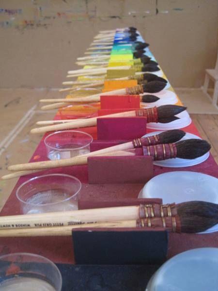 farbtisch nach arno stern kids crafts pinterest basteln and arno. Black Bedroom Furniture Sets. Home Design Ideas