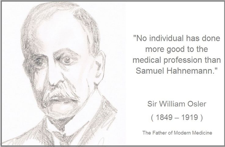 It is an interesting quote by Sir William Osler, the father of conventional medicine, and yes, I think there are still many things conventional…