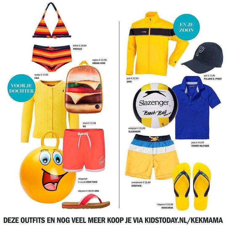Check Check. Bikini zwembroek warme kleren ballen slippers pet. Het schiet al op met de inpaklijst. Deze outfits en nog veel meer koop je via kidstoday.nl/kekmama @kidstodaynl  #kekmamamagazine #kekmama #kids #fashion #kindermode #mode #shoppen #kidstodaynl #kekmama8