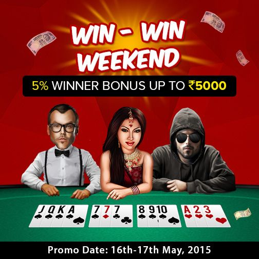 Make this Sunday a Winning One! Make a minimum deposit of Rs.1000 and Win more…