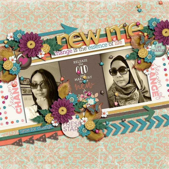 Season of Change Bundle by Sugary Fancy & Tickled Pink Studio. Playing With Journal Cards #01 | Templates by Akizo Designs.
