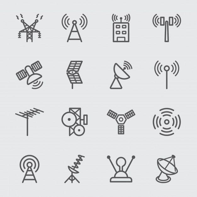 Antenna And Satellite Line Icon Technology Icon Line Icon Icon
