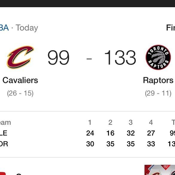 Final Score Raptors 133-99. The Raptors did amazing and crushed the cavs and it was so cool seeing all the rejections that the raptors did to the cavs and slapping out theyre dunks! Great game _______________________________________________________ - - -credit to owner! - -For More  Follow me SPORTS.INTEL - -Tags - - Tags: #carsonwentz #flyeaglesfly #nfl #philadelphia #eagles #philadelphiaeagles #jayajayi  #alshonjeffrey #beastintheeast #highlights #nflhighlights #eagleshighlights…