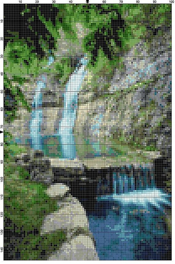 Cross Stitch Pattern Dogwood Canyon Branson by theelegantstitchery